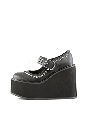 Demonia Womens Swing 03 Synthetic Mary Janes Black Vegan