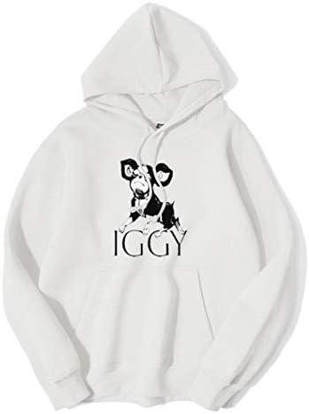 ジョジョの奇妙な冒険 イギー パーカー 高級感あるデザイン メンズ レディース (L, 白色)
