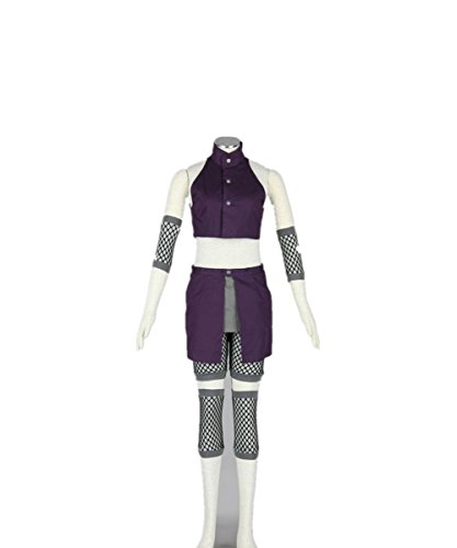 Love Anime Ninja Shinobi Cosplay Costume-Yamanaka Ino 5Pcs Set