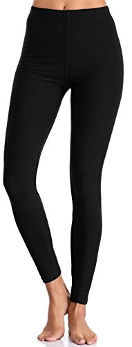 BAILYDEL Women's Ultra Soft Ankle Leggings Solid Seamless Stretch Pants for Women Color Black Size XS-L - Comfy Cotton Tights