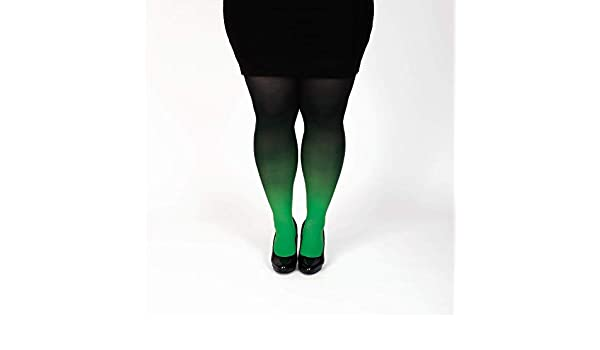 c4626d2b7a5 Amazon.com  Green plus size semi opaque tights gradient pantyhose Christmas  gift for her  Handmade