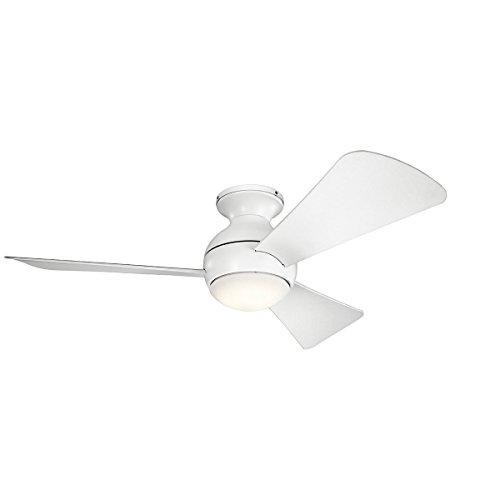 Kichler 330151MWH 44 Inch Sola Ceiling Fan LED, 3 Speed Wall
