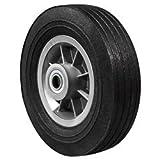 Flat Free 8'' x 2.5'' Hand Truck Wheel - 2.25'' Offset Hub - 5/8'' Axle - 450 lbs Capacity