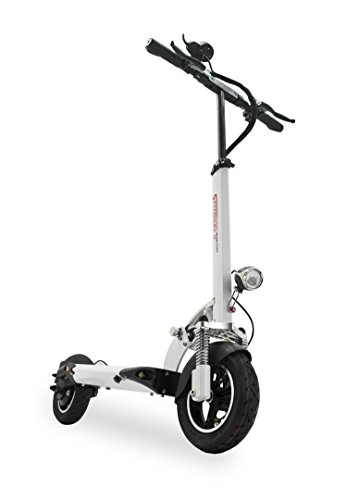 """NEW: Speedway IV, 1,347Wh 60+ Miles, 28+ MPH Max, 10"""" Tires, Suspension. Electric Kick Scooter (White)"""