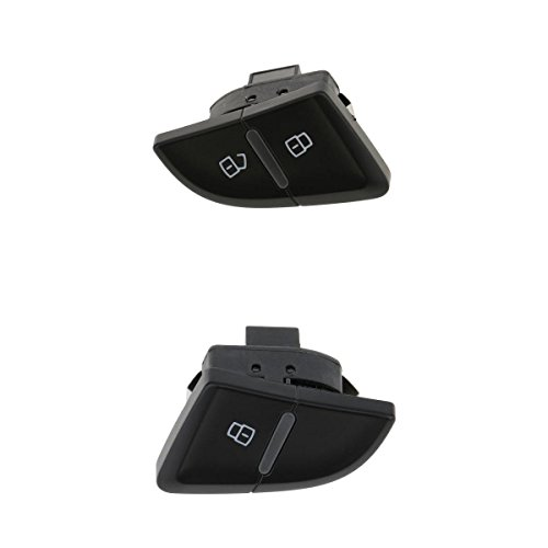 MagiDeal Pack of 2 Rear Right+Front Left 4-Pin Central Door Lock Switch Button For Audi A4 A4L B8