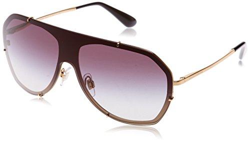 Dolce & Gabbana Women's Metal Woman Aviator Sunglasses, Gold Grey, 37 - Dolce Gabbana Aviators Gold And
