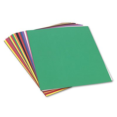 SunWorks 6523 Construction Paper, 58 lbs., 24 x 36, Assorted (Pack of 50 Sheets) -