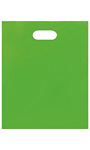 Medium Low Density Lime Green Merchandise Bags - Case of 1,000 by STORE001