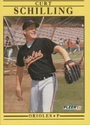 Amazon com: 1991 Fleer Baseball Card #491 Curt Schilling