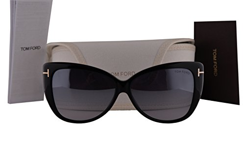Tom Ford FT0512 Reveka Sunglasses Shiny Black w/Smoke Mirror Lens 01C - Ford Bond Sunglasses Tom James