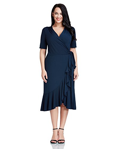 LookbookStore Women Ruffled Surplice Asymmetrical