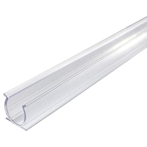 Rope Light Track - Brilliant Brand Lighting 39 Inch x 1/2 Inch Rope Light Mounting Track - Clear PVC Channel - 12/120 Volt - 10 Pack