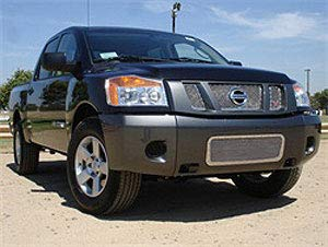(TRex Grilles 6717800 Small Mesh Stainless Polished Finish XMetal Grille Insert for Nissan Titan Armada)