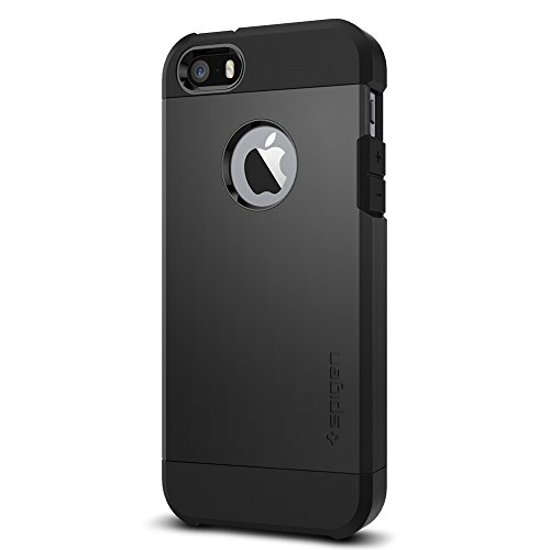Spigen Tough Armor iPhone 5S / 5 Case with Extreme Heavy Duty Protection and Air Cushion Technology for iPhone 5S / iPhone 5 - SF Smooth Black by Spigen