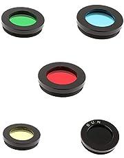 figatia for Celestron Telescope Eyepiece Color Filter Set 1.25 Inch Moon Planet 5pcs