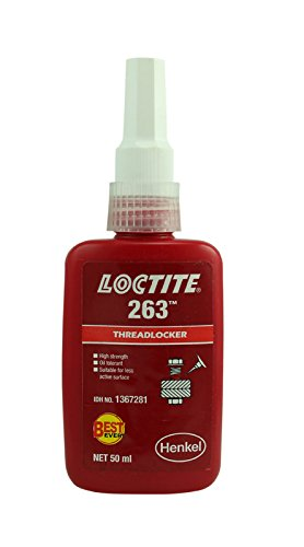 Genuine Henkel Loctite 263 High Strength Threadlocker - High Strength Liquid - 50 ML by Loctite 263