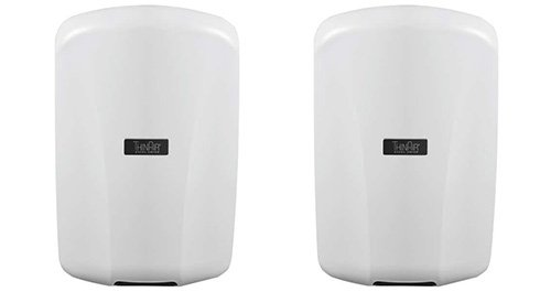 Excel Dryer ThinAIR TA-ABS Automatic, Surface-Mounted, ADA-Compliant Conventional Hand Dryer, Antimicrobial ABS Cover, White, 110-120V 50/60 Hz 2PK