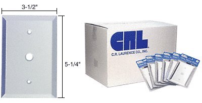 CRL Single 3/8'' TV Hole in 100pc Bulk Packs - Clear Glass