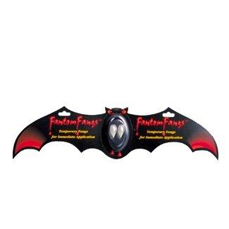 Fantom Fangs Vampire Teeth Bat Carded Halloween Accessory