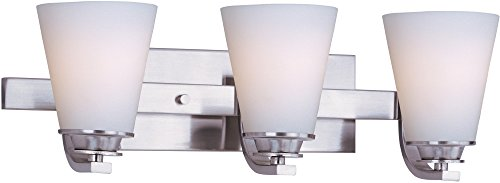 - Maxim Lighting 9013SWSN Conical-Bath Vanity Conical 3-Light Bath Vanity