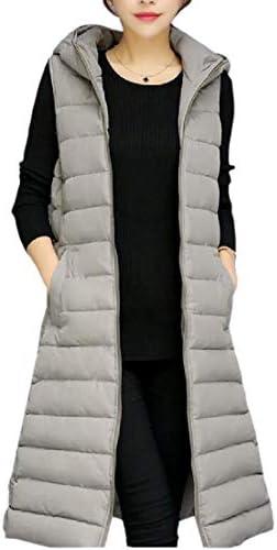 dahuo Womens Lightweight Mid Long Down Vest Puffer Vest Coat Jacket Windbreaker