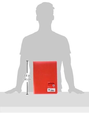 grafoplas 1155706–40Pockets Folder, Red by Grafoplas (Image #2)