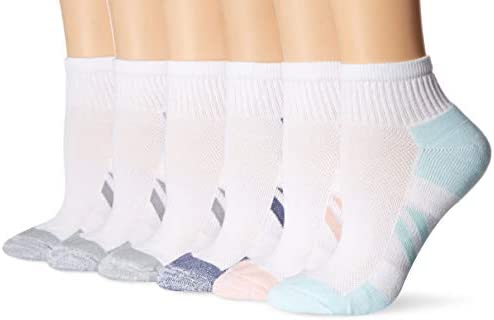 Amazon Essentials Women's 6-Pack Performance Cotton Cushioned Athletic Ankle