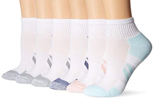 Amazon Essentials Women's 6-Pack Performance Cotton Cushioned Athletic Ankle Socks