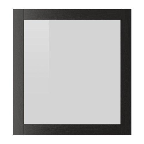 IKEA Glass Door, Black-Brown 23 5/8x25 1/4''