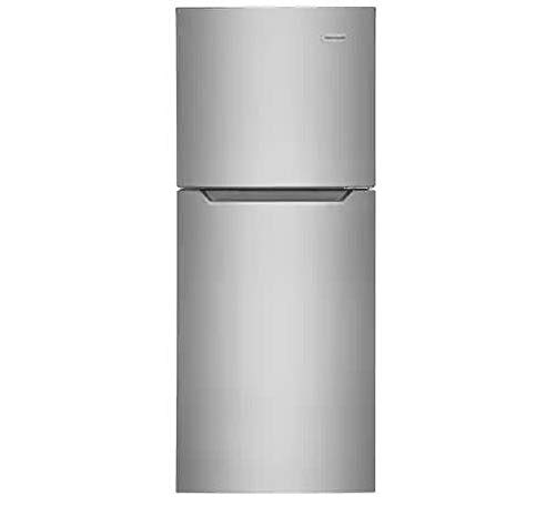 Frigidaire FFET1222UV 24 Inch Freestanding Top Freezer Refrigerator with 11.6 cu. ft. Total Capacity in Brushed Steel