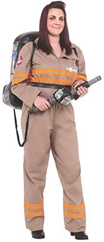 Deluxe Ghostbusters Costume (Rubie's Costume Co Women's Ghostbusters Movie Deluxe Plus Costume, Multi, One)