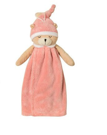 Towel Costume Hygienic (UChic 1Pcs Cute Sleeping Bear Hand Towel Soft Coral Velvet Kids Children Cartoon Absorbent Quick Dry Towel Lovely Animal Towel For Kitchen Bathroom(At Random)