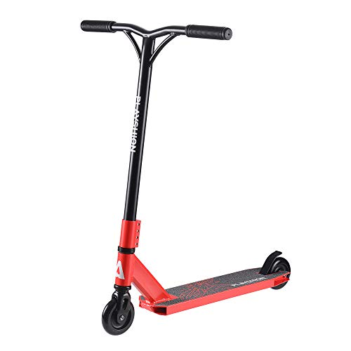 Playshion Freestyle Pro Scooter Stunt Scooters for Beginner Bright Red