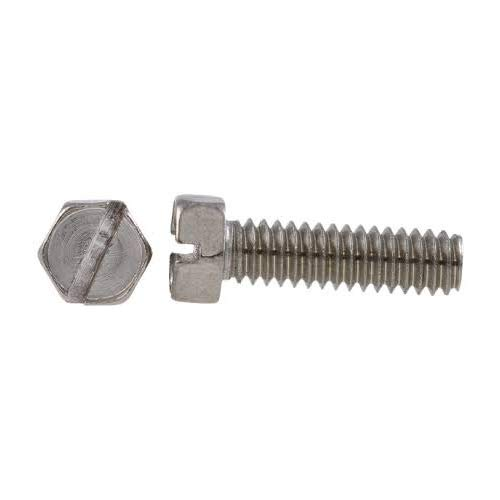 4-40 X 1//4 Slotted Indented Hex Machine Screw 18-8 Stainless Steel Package Qty 100