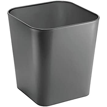 Amazon Com Mdesign Decorative Metal Square Small Trash