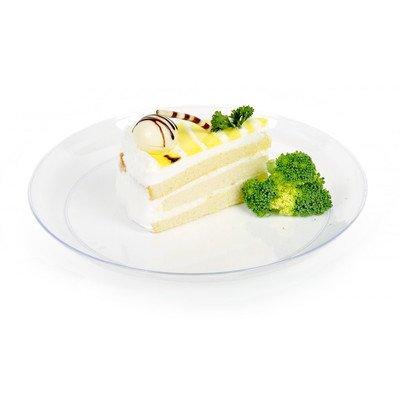 Round Elegant Plate Medium Clear 7 inches 100 count (Piatti Yoshi Plastica)
