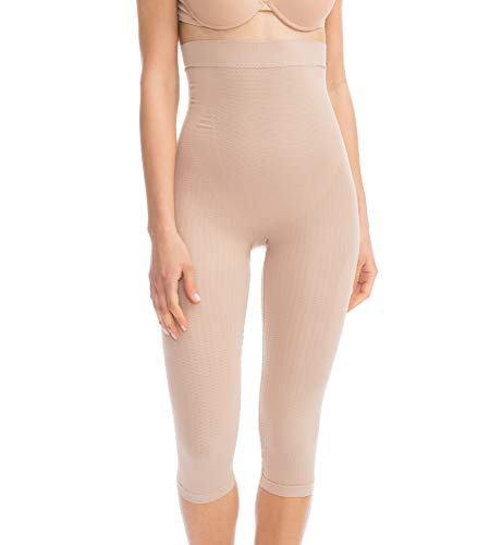 - FarmaCell 323 (Nude, S/M) Women's Compression Anti-Cellulite Capri Leggings