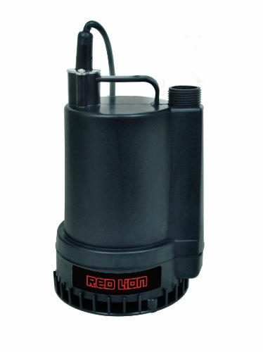 Red Lion RL-MP16 1300 GPH 1/6 HP Thermoplastic Submersible Utility ()