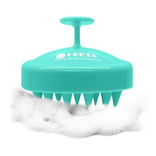 Heeta Hair Scalp Massager Wet and Dry Shampoo Brush Scalp Massage Brush with Soft Silicone Rubber