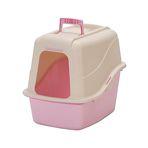 Cat Supplies Hooded Pan Set W/Microban Linen/Pink - Petmate Set Pan Hooded