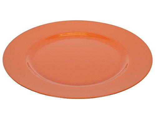Orange Accent Plate - ih casa décor Charger Plates, Orange