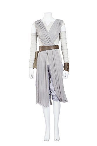 COSKING Rey Costume for Women Episode VII, Deluxe Halloween Cosplay Outfit (Medium, Updated Version)