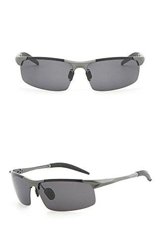 del sol la polarizador al de los sol la Gafas de de conductor aluminio aire de libre de del de hombres del gafas gafas armas de de le Lente caja gris del magnesio espejo marco ULTRAVIOLETA sol personalidad anti RFVBNM manera pxSwc1RqW1