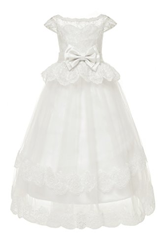 Yuanlu Lace Flower Girl Dress for Weddings First