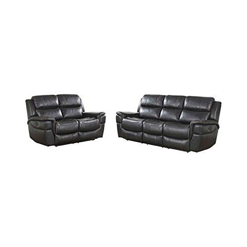 Abbyson Living Tallia 2 Piece Power Reclining Sofa Set -
