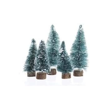 Factory Direct Craft Miniature Sisal Bottle Brush Christmas Trees (20 Trees    3 To 4 Inches Tall, Green Frosted)