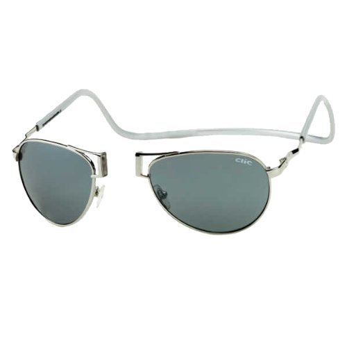 Clic Magnetic Aviator Metal Polarized Sunglasses by MAGNIFYING AIDS