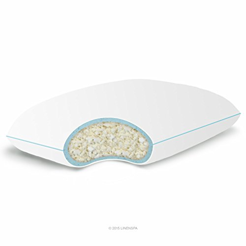 Linenspa Shredded Memory Foam Pillow with Gel Memory Foam, King by Linenspa