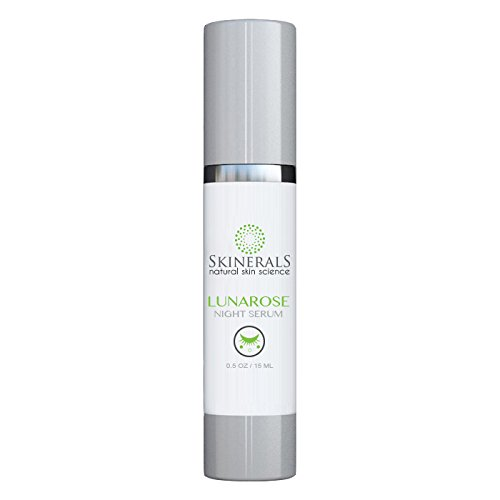 Skinerals Night Serum Lunarose with Organic and Natural Ingredients for Anti Aging Wrinkle Treatment Restore Your Skin