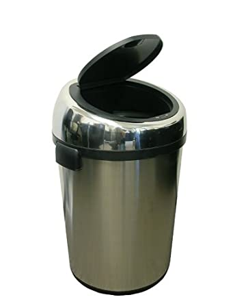 ITouchless Commercial Size Automatic Touchless Sensor Trash Can   Stainless  Steel U2013 18 Gallon / 68